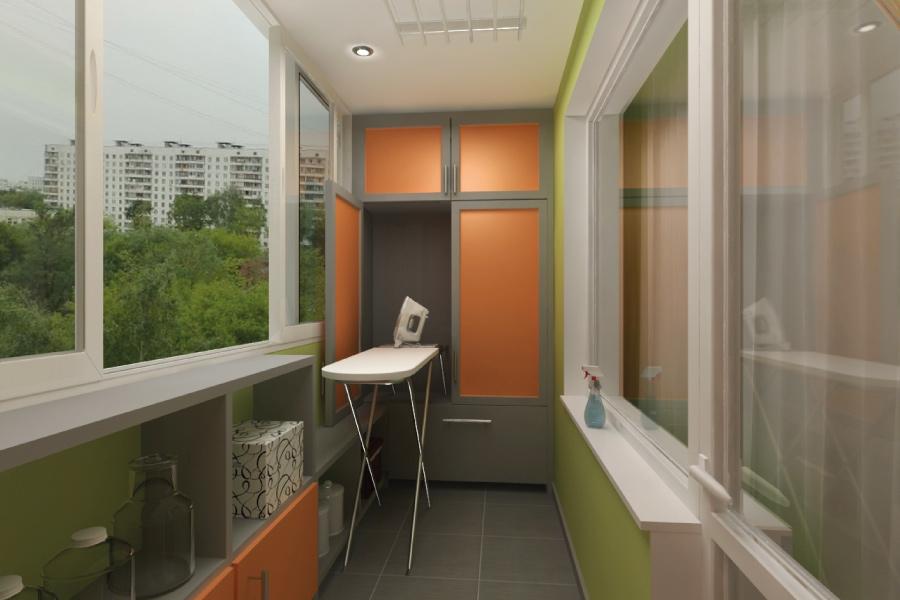 Дизайнерские работы остекление балконов с нарижи..